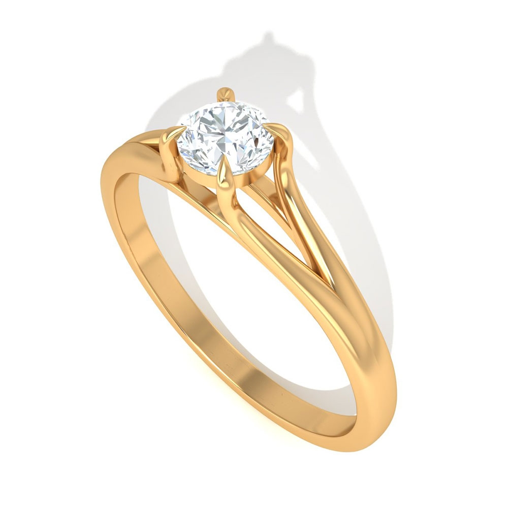 3/4 CT Solitaire Diamond Ring for Women in 6 Prong Peg Head Setting