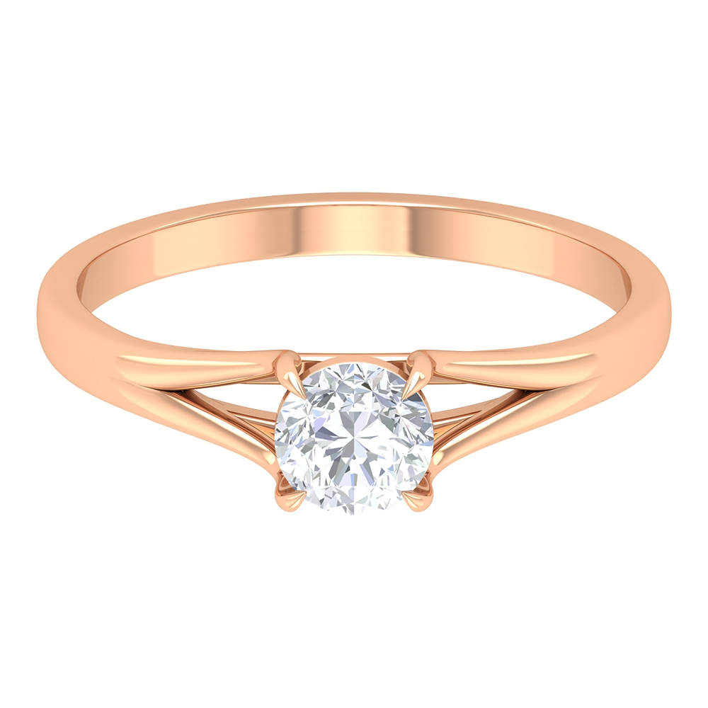 1/2 CT Diamond Solitaire Ring for Women