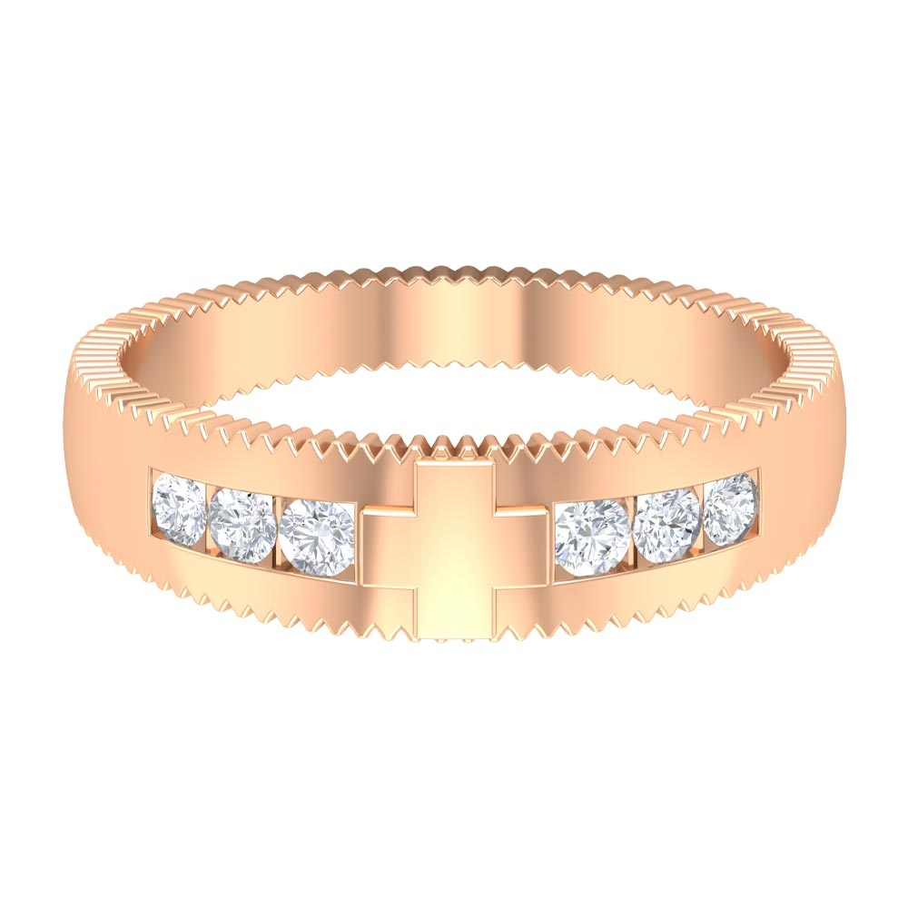 1/4 CT Antique Anniversary Band Ring with Diamonds