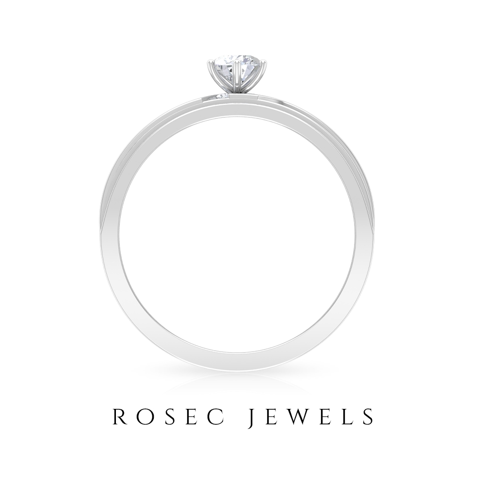 1/4 CT Solitaire Diamond Engagement Ring for Women