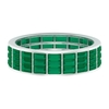 3.50 CT Baguette Cut Green Tourmaline Wide Eternity Band Ring