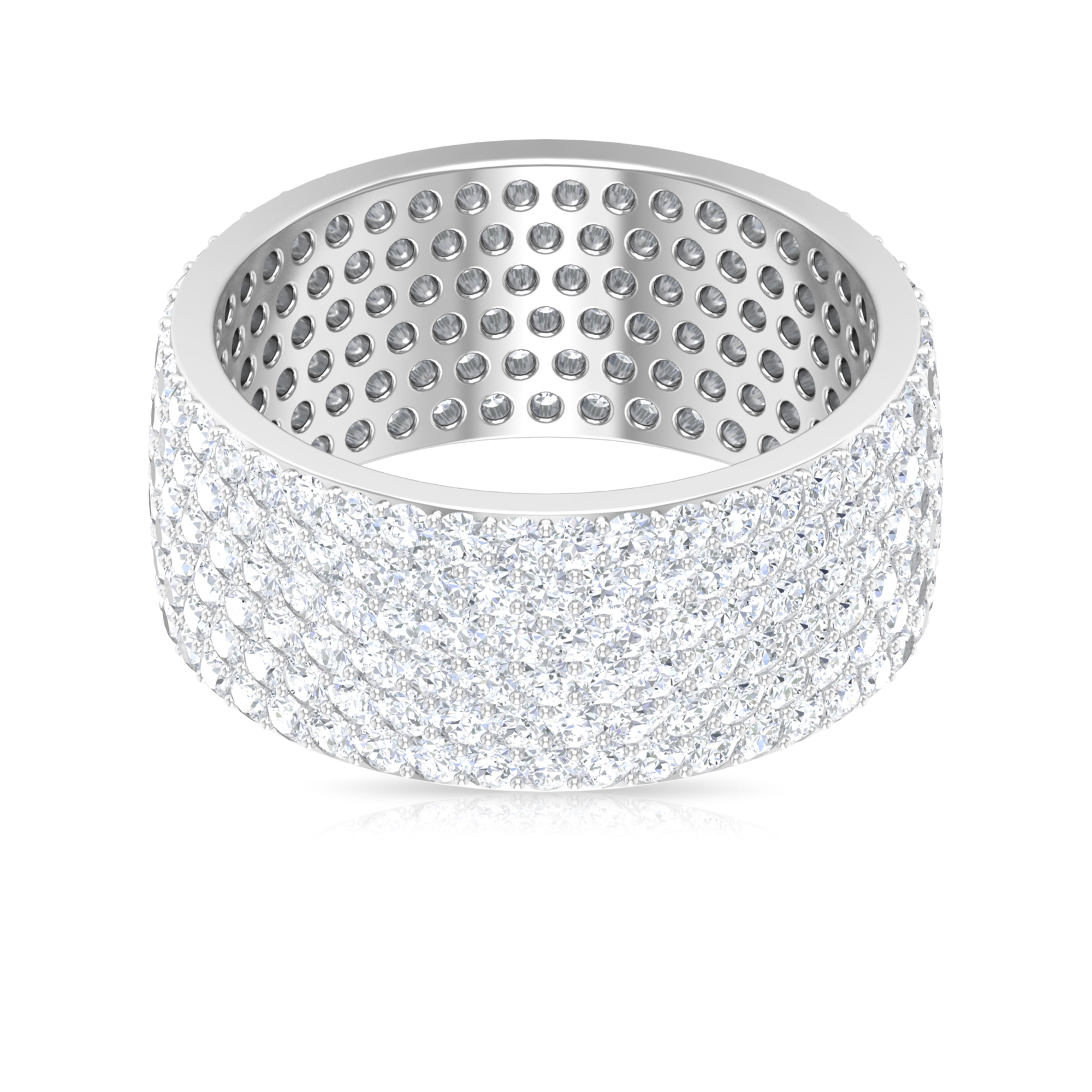 3.75 CT Pave Set Diamond Cluster Band Ring