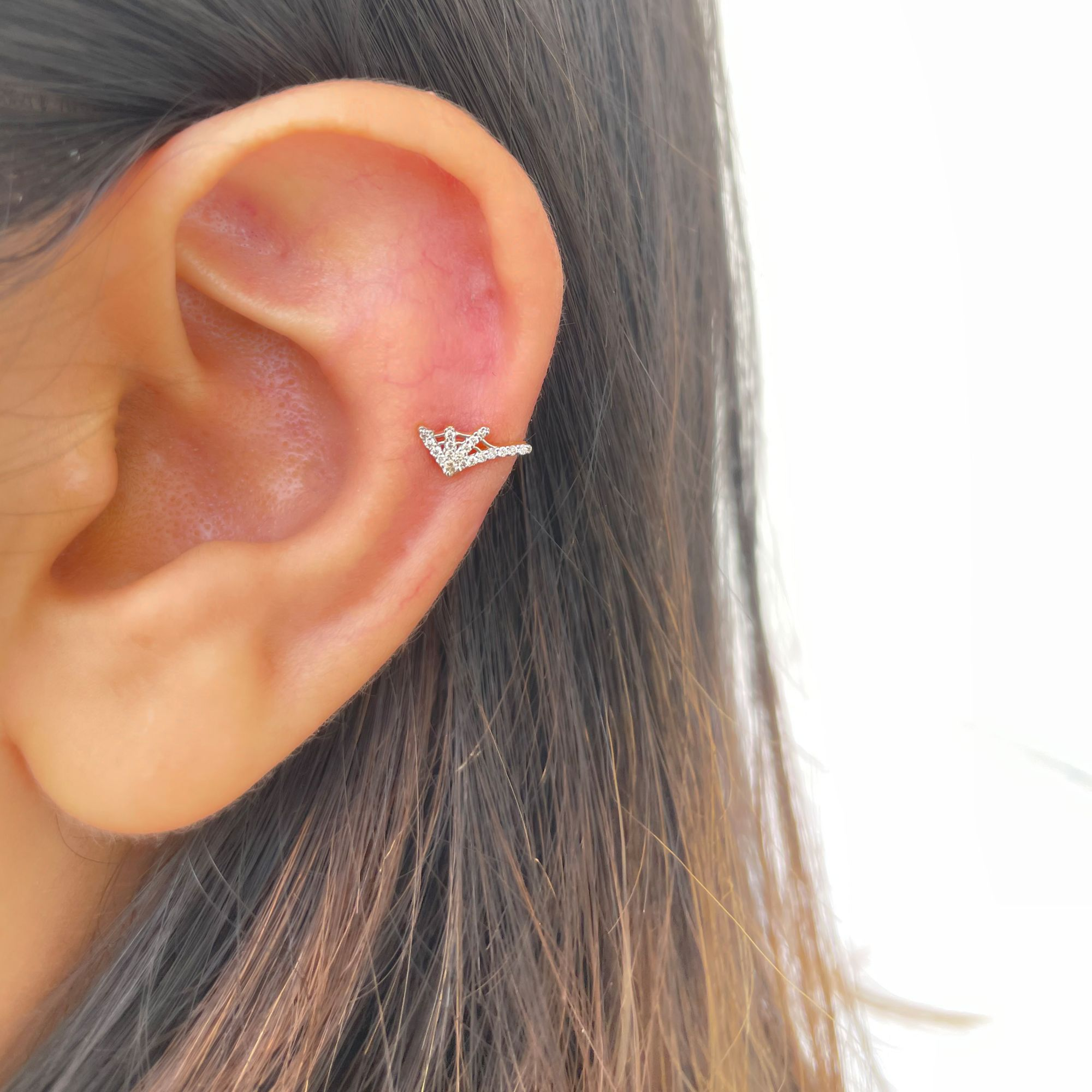 Spider Web Diamond Cartilage Conch Helix Rook Piercing Earring